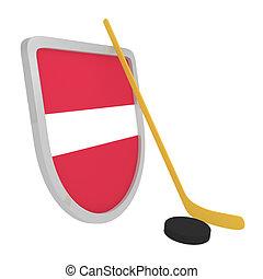 Latvia shield ice hockey isolated