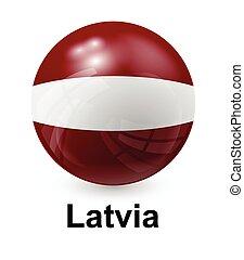 latvia state flag