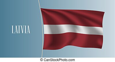 Latvia waving flag vector illustration