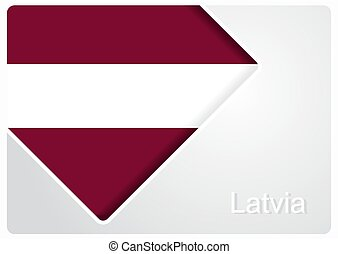 Latvian flag design background. Vector illustration. - ...