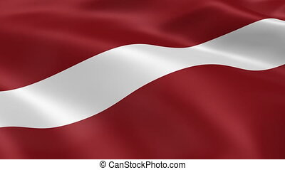 Latvian flag in the wind. Part of a series.