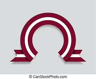 Latvian flag rounded abstract background. Vector ...
