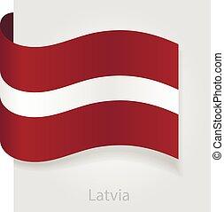 Latvian flag, vector illustration