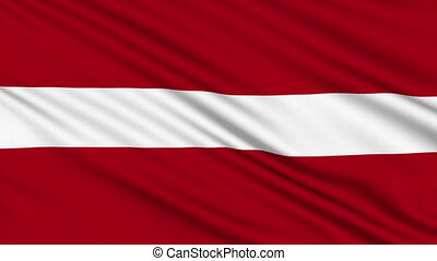 Latvian flag, with real structure of a fabric