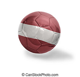 Latvian Football - Football ball with the national flag of...