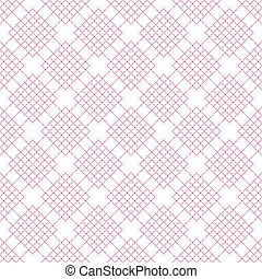 latwerk, abstract, pattern., seamless, achtergrond., vector., wit rood