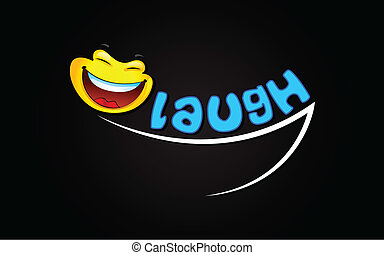 laugh Background - illustration of laughing expression with...