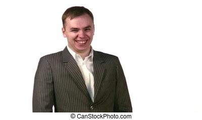laugh businessman - Laugh of businessman.