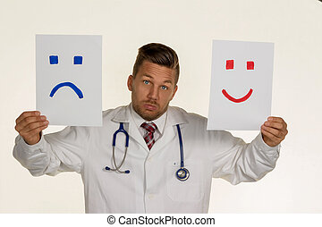 laugh or cry - a doctor can not decide if he should laugh or...