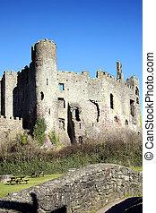 Laugharne Castle Carmarthenshire Wales UK