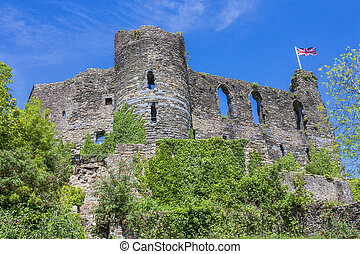 Laugharne Castle in Carmarthenshire south Wales