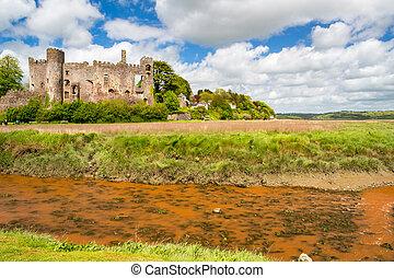 Laugharne Castle Wales