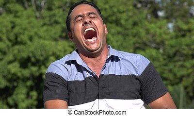 Laughing Adult Hispanic Man
