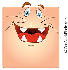 Laughing Animal Face Box Smiley