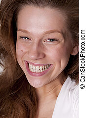 Laughing beauty teenager