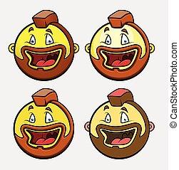 Laughing Biker Emoticon Set