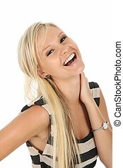 Laughing Blond Beauty Girl