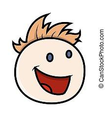 Laughing Boy Cartoon Face