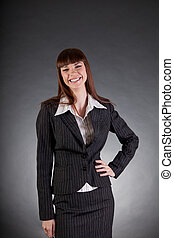 Laughing business woman