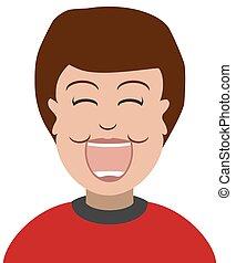 Laughing Cartoon Boy