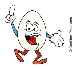 Laughing Cartoon Egg Character