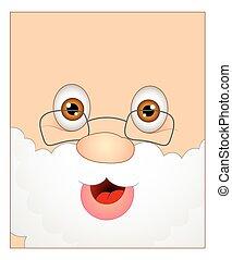 Laughing Cartoon Santa Claus Face