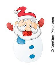 Laughing Cartoon Snowman Character