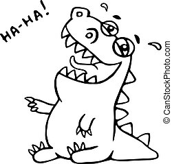 Laughing cute dinosaur