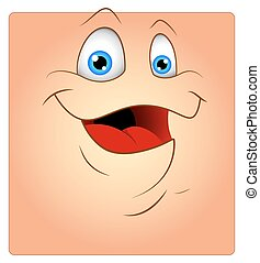 Laughing Cute Smiley Face Vector