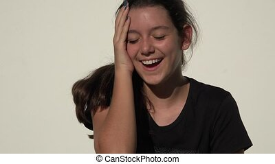 Laughing Cute Teen Girl