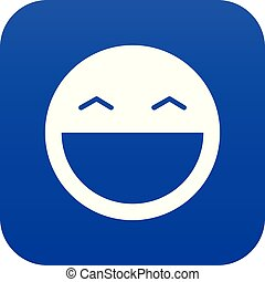 Laughing emoticon digital blue
