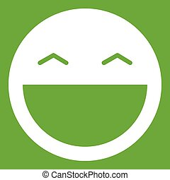 Laughing emoticon green