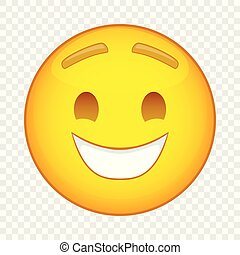 Laughing emoticon icon, cartoon style
