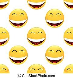 Laughing emoticon pattern