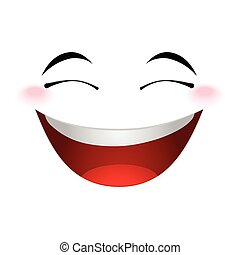 Laughing emoticon sign