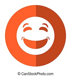 laughing emoticon style icon shadow