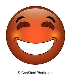 laughing emoticon style icon