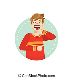 Laughing Emotion Body Language Illustration