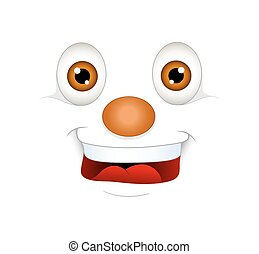 Laughing Face Expression - Laughing Cartoon Face Expression...