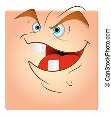 Laughing Funny Face Box Smiley