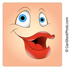 Laughing Funny Female Smiley Face
