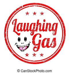 Laughing gas sign or stamp - Laughing gas grunge rubber...