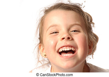 Laughing - girl having fun