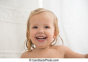 Laughing girl with nice teeth