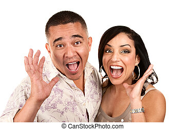 Laughing Hispanic Couple