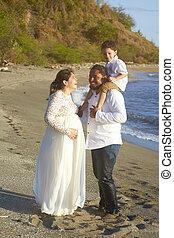 Laughing hispanic family