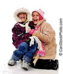 Laughing in the Snow