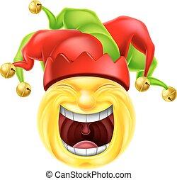 Laughing Jester Emoticon Emoji - A jester cartoon emotion ...