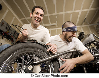 Laughing Motorcycle Mechanics