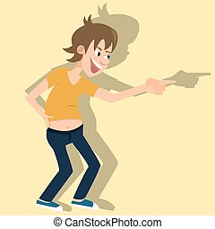 laughing person vector cartoon